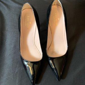 "Kate spade black patent leather 4"" heels"